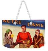 1929 Notre Dame Versus Southerncal Weekender Tote Bag