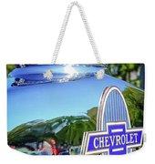 1930 Chevrolet Ad Hood Ornament Weekender Tote Bag