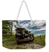 1930 Chevy On The Shore Of Higgins Lake Weekender Tote Bag