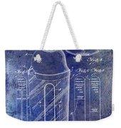 1930 Cocktail Shaker Patent Blue Weekender Tote Bag