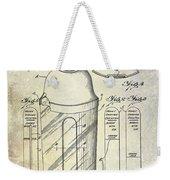 1930 Cocktail Shaker Patent Weekender Tote Bag
