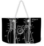 1930 Gas Pump Patent In Black Weekender Tote Bag