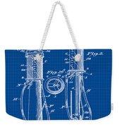1930 Gas Pump Patent In Blue Print Weekender Tote Bag