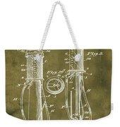 1930 Gas Pump Patent In Grunge Weekender Tote Bag
