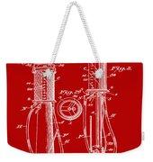 1930 Gas Pump Patent In Red Weekender Tote Bag