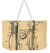 1930 Gas Pump Patent In Sepia Weekender Tote Bag
