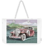 1930 Model J  Duesenberg Weekender Tote Bag