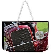 1930 Red Ford Model A-front-8886 Weekender Tote Bag