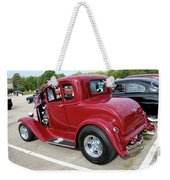 1930 Red Ford Model A-rear-8902 Weekender Tote Bag