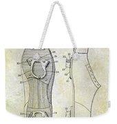 1932 Baseball Cleat Patent Weekender Tote Bag