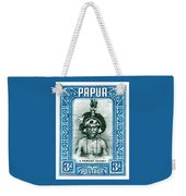 1932 Papua New Guinea Native Dandy Postage Stamp Weekender Tote Bag