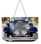 1933 Packard 12 Convertible Coupe Weekender Tote Bag
