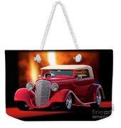 1934 Chevrolet Phaeton Convertible Weekender Tote Bag