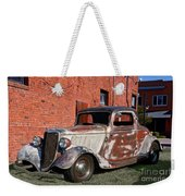 1934 Ford 'patina Plus' Coupe Weekender Tote Bag