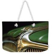 1934 Nash Ambassador 8 Hood Ornament Weekender Tote Bag