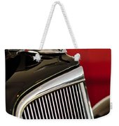 1935 Chevrolet Optional Eagle Hood Ornament Weekender Tote Bag