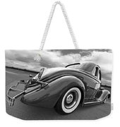 1935 Ford Coupe In Black And White Weekender Tote Bag