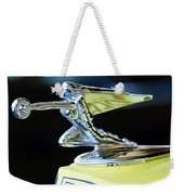1935 Packard Hood Ornament Weekender Tote Bag