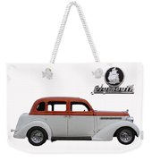 1935 Plymouth With Insignia Weekender Tote Bag