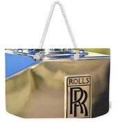 1935 Rolls-royce Phantom II Hood Ornament Weekender Tote Bag