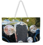 1935 Triumph Southern Cross Front Grill Weekender Tote Bag
