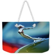 1936 Cadillac Hood Ornament 2 Weekender Tote Bag