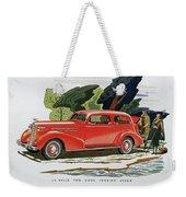 1936 La Salle Two Door Touring Sedan Weekender Tote Bag