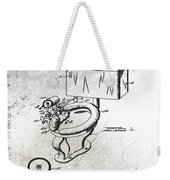 1936 Toilet Bowl Patent Antique Weekender Tote Bag
