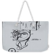 1936 Toilet Bowl Patent Antique Gray Weekender Tote Bag