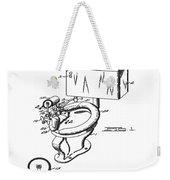 1936 Toilet Bowl Patent Weekender Tote Bag