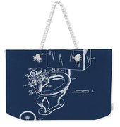 1936 Toilet Bowl Patent Blue Weekender Tote Bag
