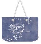 1936 Toilet Bowl Patent Blue Grunge Weekender Tote Bag