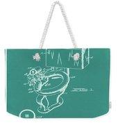 1936 Toilet Bowl Patent Green Weekender Tote Bag