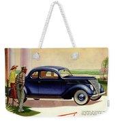 1937 Ford Car Ad Weekender Tote Bag