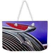 1937 Hudson Terraplane Sedan Hood Ornament 2 Weekender Tote Bag