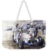 1937 Italian Gp Mercedes Benz W125 Rudolf Caracciola Weekender Tote Bag