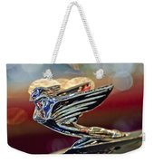 1938 Cadillac V-16 Sedan Hood Ornament Weekender Tote Bag