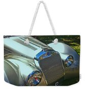 1938 Delage D8 - 120 Aerodynamic Coupe Front Grill Weekender Tote Bag