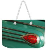 1938 Lincoln Zephyr Convertible Sedan Emblem Weekender Tote Bag