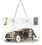 1938 Rolls Royce Phantom I I I Sedanca Deville Weekender Tote Bag