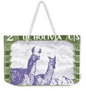 1939 Bolivia Llamas Postage Stamp Weekender Tote Bag by Retro Graphics