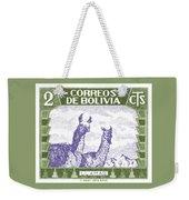1939 Bolivia Llamas Postage Stamp Weekender Tote Bag