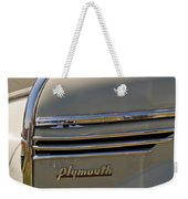 1940 Plymouth Hood Ornament 2 Weekender Tote Bag