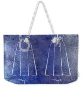 1940 Waitress Uniform Patent Blue Weekender Tote Bag