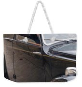 1940s Couple Driving In A Vintage Car Weekender Tote Bag
