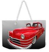 1940s Custom Chrysler New Yorker In Red Weekender Tote Bag