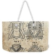 1940s Oil Drill Bit Patent Weekender Tote Bag