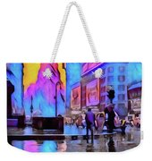 1940s Times Square Rain Weekender Tote Bag