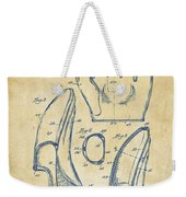 1941 Baseball Glove Patent - Vintage Weekender Tote Bag by Nikki Marie Smith
