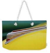 1941 Chevrolet Sedan Hood Ornament Weekender Tote Bag